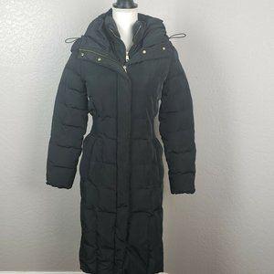 Cole Haan Down Puffer Jacket Coat Long Black XS